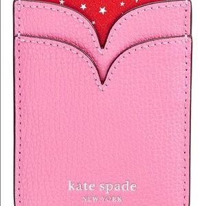 Kate Spade Pink Leather Phone Pocket NEW